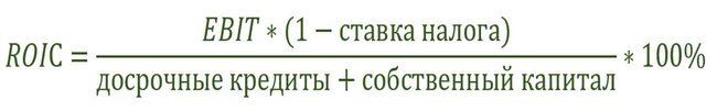 Формула ROIC