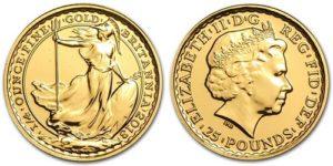 Монета Британия