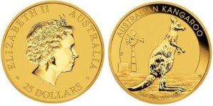 Монета Австралийский кенгуру