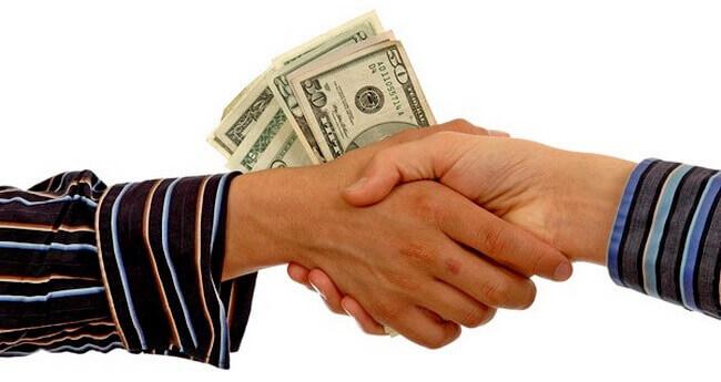 Передача денег при заключении сделки