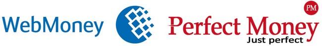 Логотипы WebMoney и Perfect Money