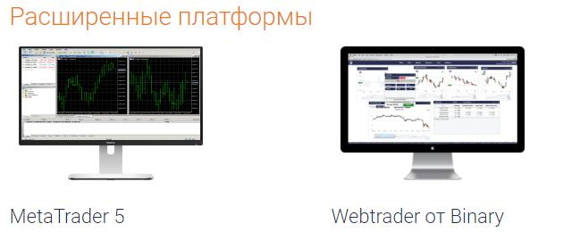 Расширенные платформы Binary.com