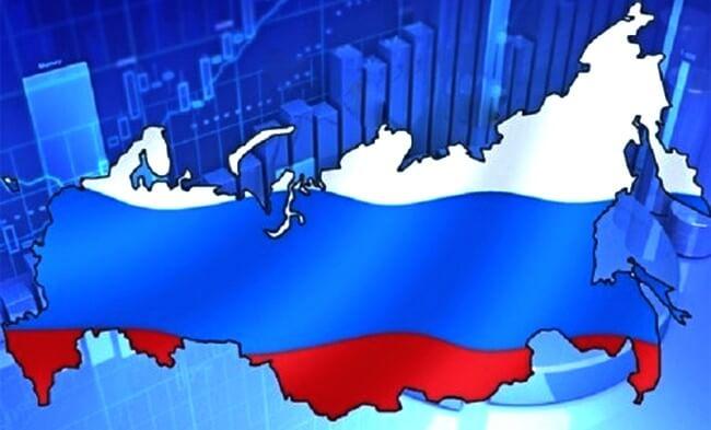 Карта России на фоне роста котировок