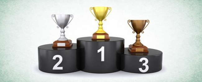 Пьедестал - 1,2 и 3 место