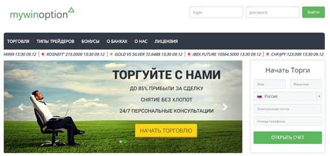 Сайт Mywinoption