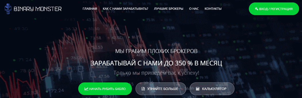 Сайт проекта Binary Monster