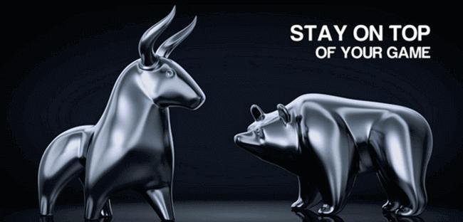 Бык и медведь - символ биржевой торговли