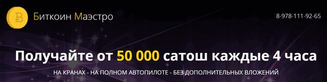 Шапка сайта Биткоин Маэстро
