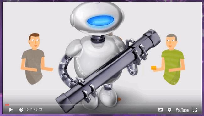 Скрин видеоролика с сайта Биткоин Маэстро