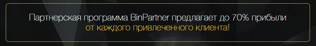 Прибыль партнерской программы Binomo