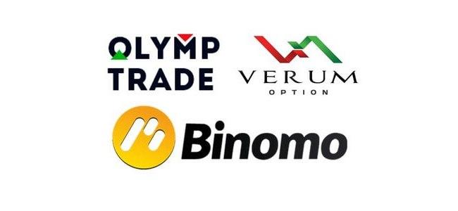 Логотипы популярных брокеров