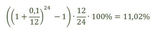 Пример расчета по формуле №1