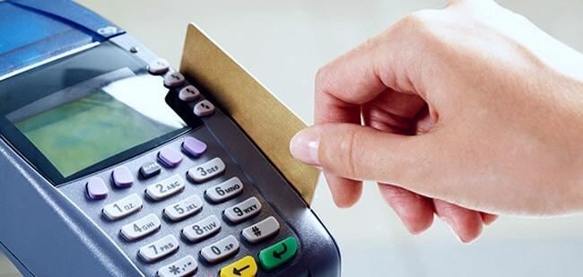 Списание денег по пластиковой карточке через платежный терминал