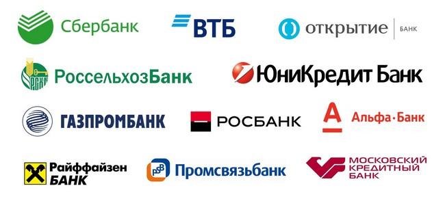 Логотипы системно значимых банков