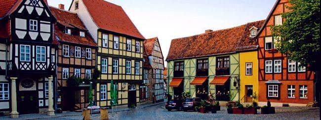 Дома в небольшом немецком городке