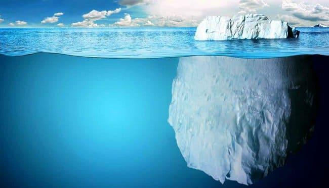 Надводная и подводная части айсберга